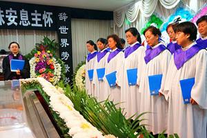 大型告别仪式现场布置